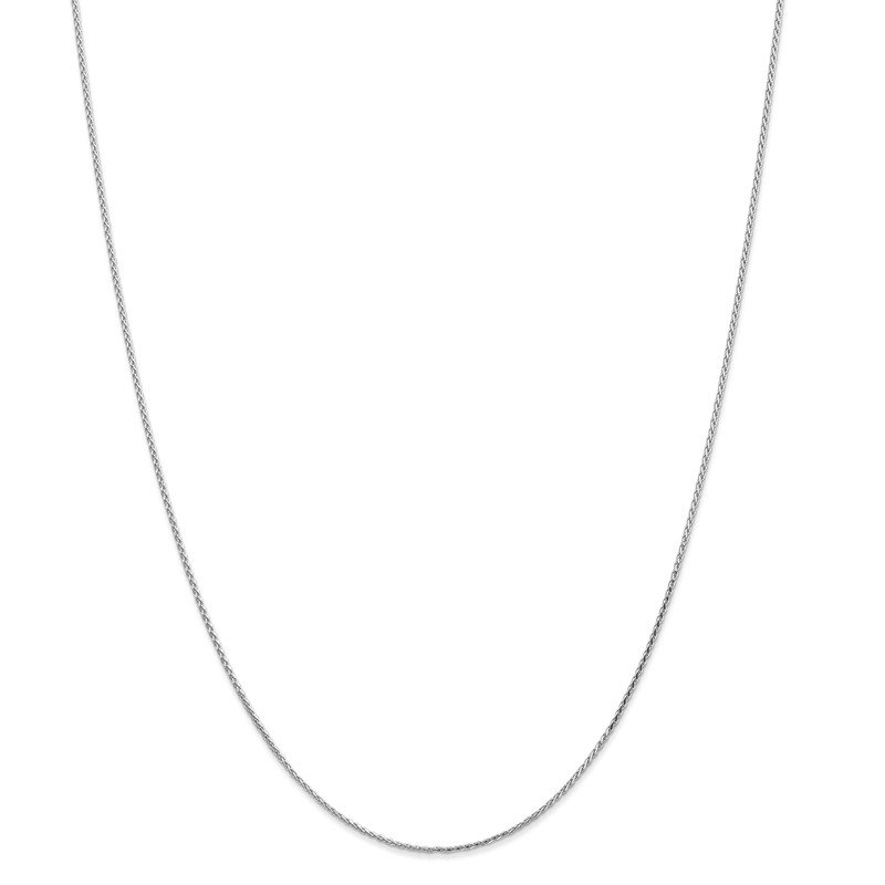 Leslie's Leslie's 14K White Gold 1.0mm Round D/C Wheat Chain