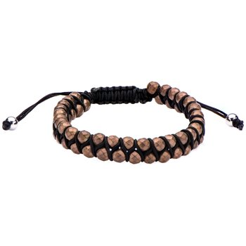 Brown Hematite Beads Adjustable Bracelet