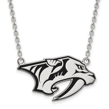 Sterling Silver Nashville Predators NHL Necklace