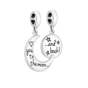 TO THE MOON AND BACK CHARM AND BOX SET