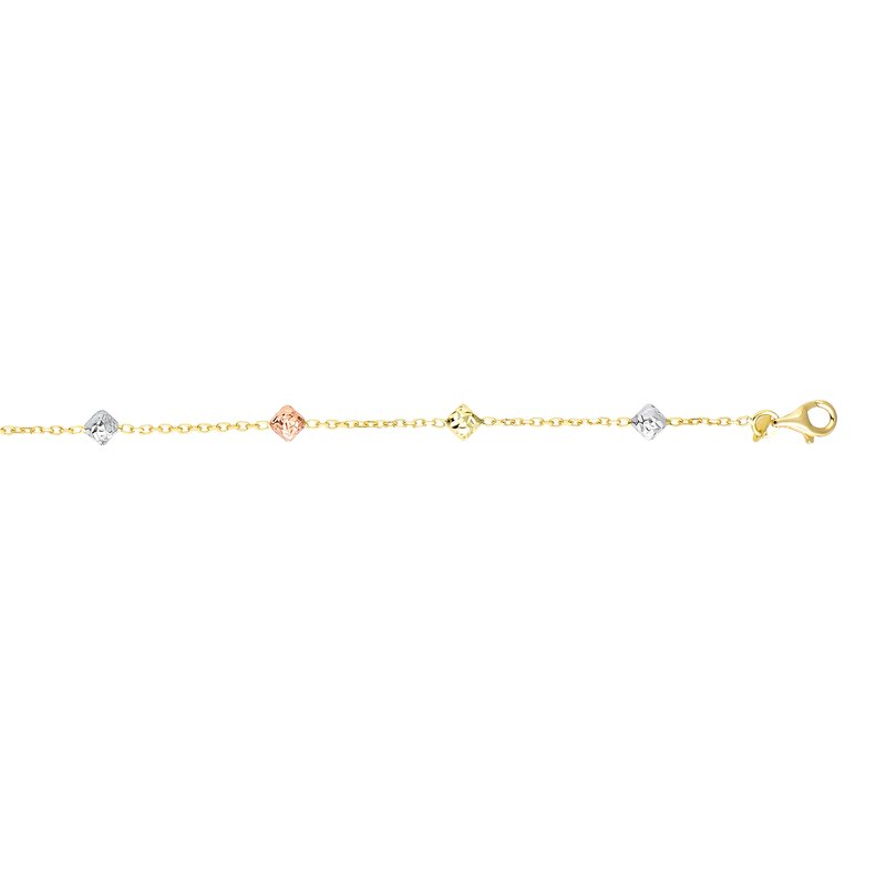 Royal Chain 14K Gold  Square Bead Station Chain