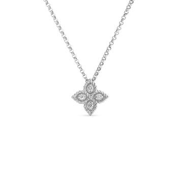 Small Pendant With Diamonds &Ndash; 18K White Gold