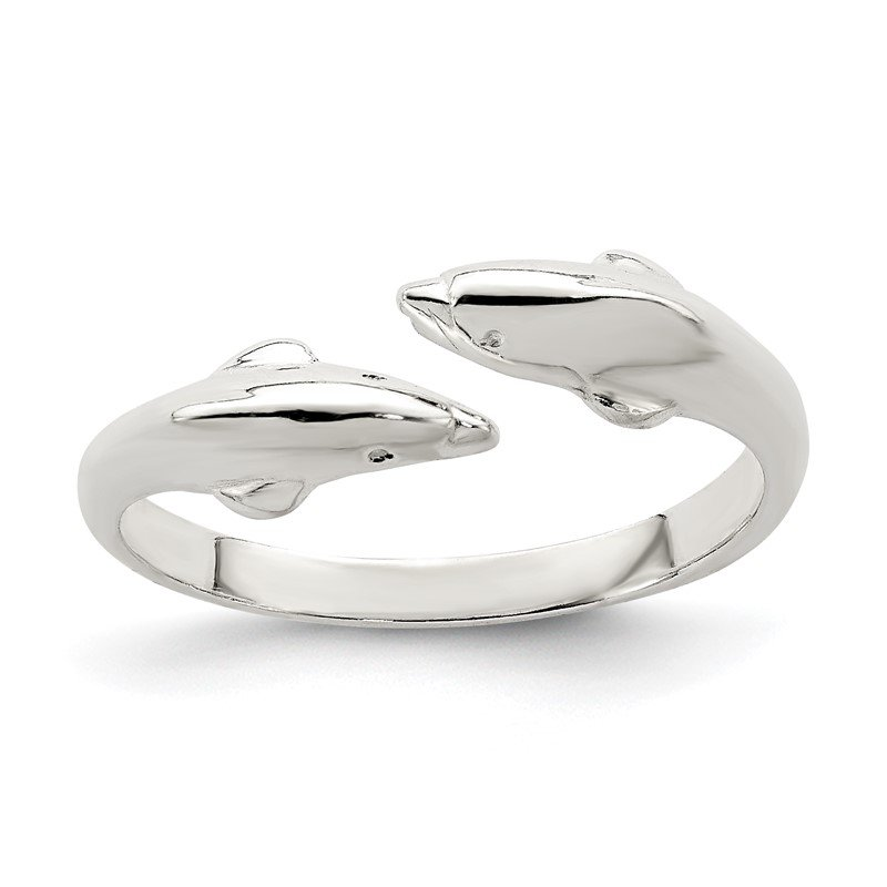 Lester Martin Online Collection Sterling Silver Polished Dolphin Toe Ring