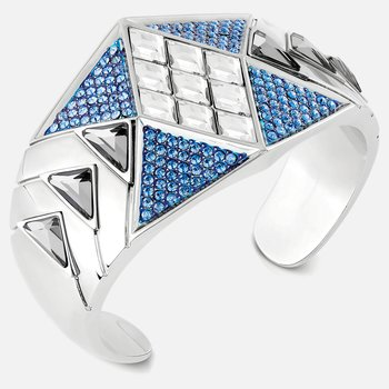 Karl Lagerfeld Statement Cuff, Blue, Palladium plated