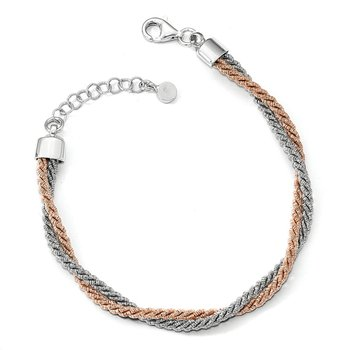 Leslie's Sterling Silver Rose Gold-tone with 1in ext. Bracelet