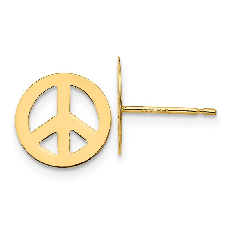 Quality Gold 14k Madi K Peace Sign Post Earrings