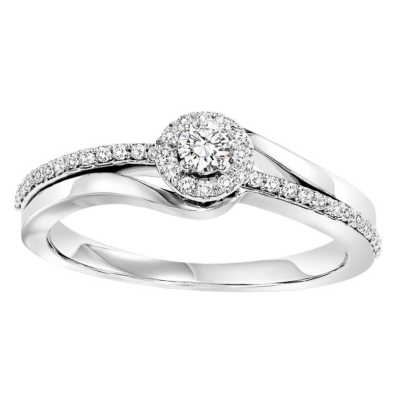 Bridal Bells 14K Diamond Engagement Ring 1/4 ctw Complete