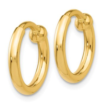 14k Non-Pierced Hoop Earrings