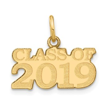 14k CLASS OF 2019 Charm
