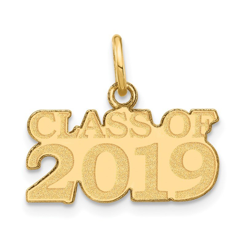 Quality Gold 14k CLASS OF 2019 Charm