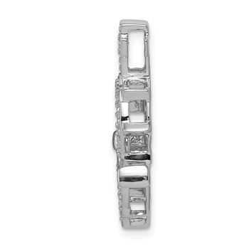 14k White Gold Diamond Mariners Anchor Chain Slide