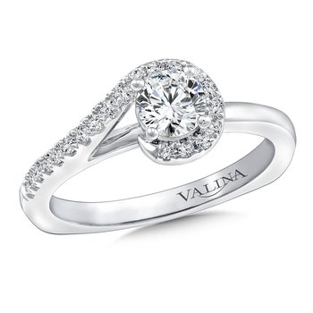 Diamond Engagement Ring Mounting in 14K White Gold (.13 ct. tw.)