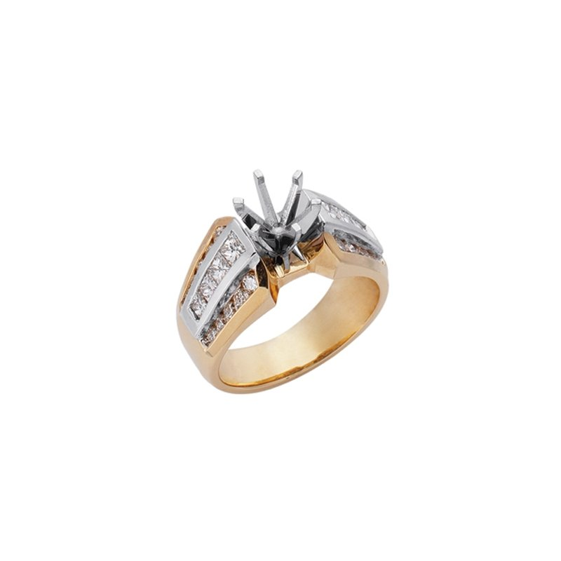 S. Kashi  & Sons Yellow White Engagement Ring