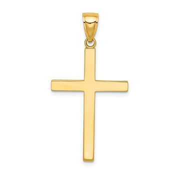 14K Solid Reversible Latin Cross Pendant