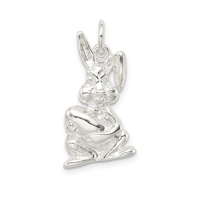 Quality Gold Sterling Silver Easter Bunny Charm