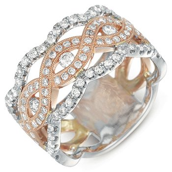 Rose & White Gold Diamond Fashion Ring