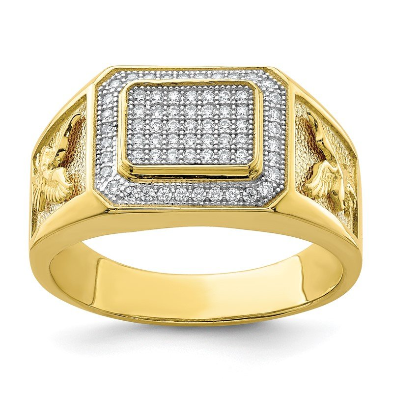 Quality Gold 10K Men's CZ Eagle Ring