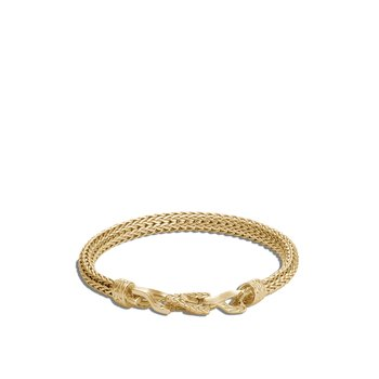 Asli Classic Chain Link 6.5MM Station Bracelet in 18K Gold