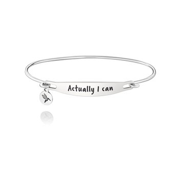 Actually I Can Id Bangle - Ss Lt Ox Finish, M/L