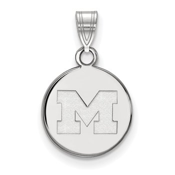 Gold University of Michigan NCAA Pendant