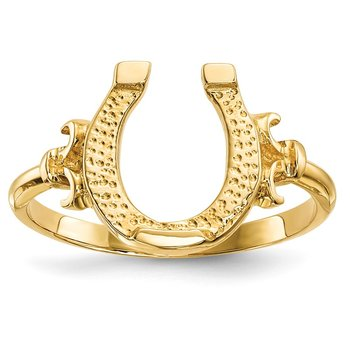 14k Polished Horseshoe Ring