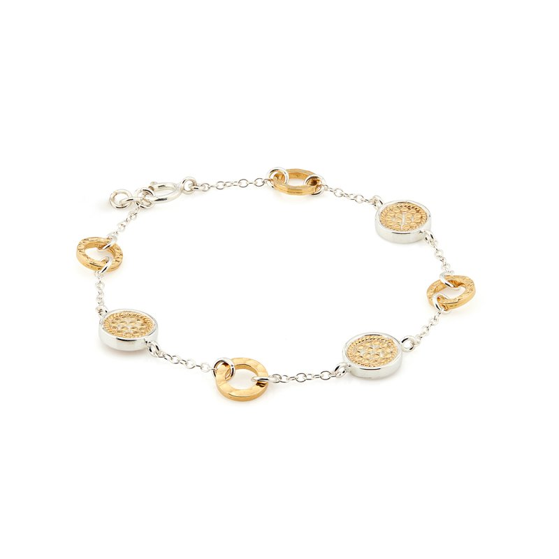 Anna Beck Hammered Station Bracelet