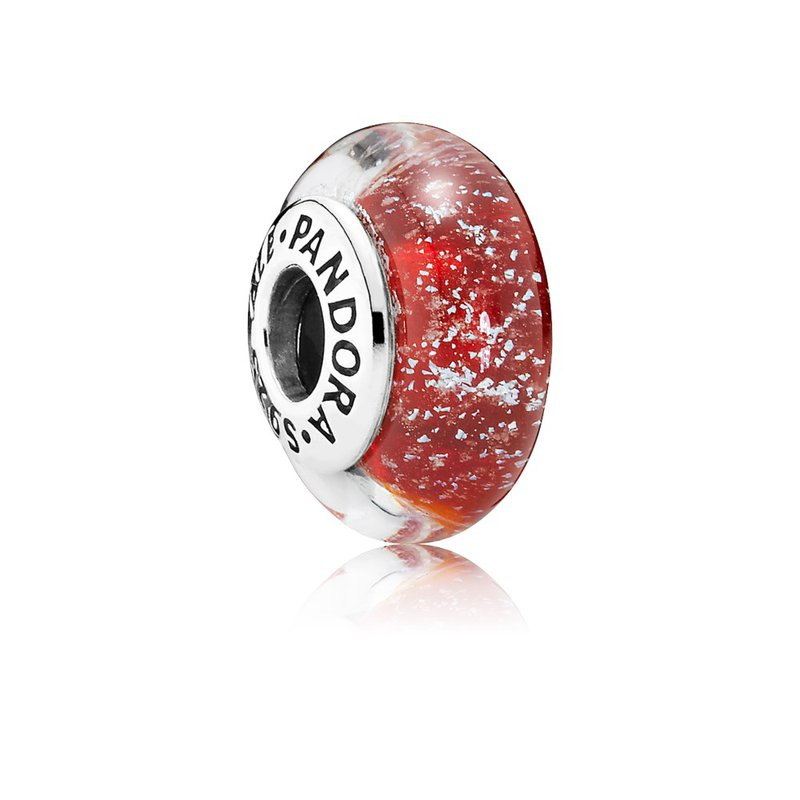 PANDORA Disney, Snow White's Signature Color Charm, Murano Glass