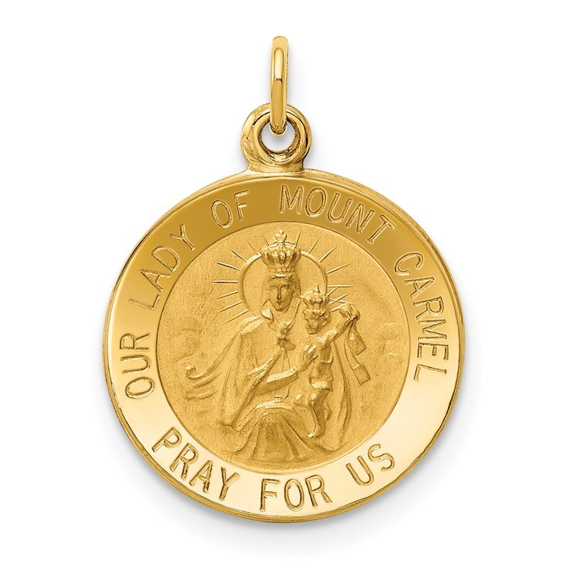 Quality Gold 14k Our Lady of Mount Carmel Medal Charm