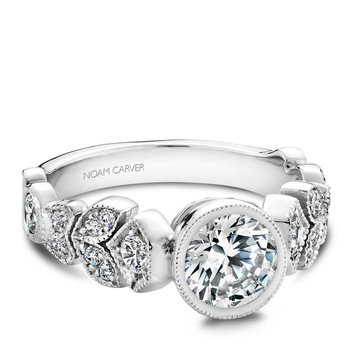 Noam Carver Floral Engagement Ring B028-01A