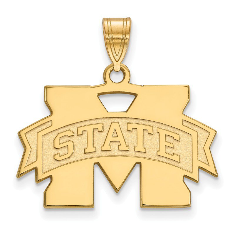 NCAA Gold-Plated Sterling Silver Mississippi State University NCAA Pendant