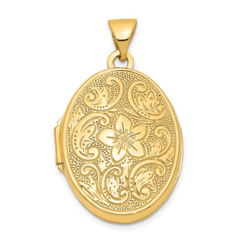 Quality Gold 14k Scrolled Floral Locket