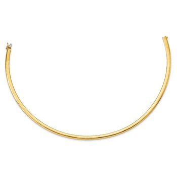 14k 6mm Lightweight Omega Necklace