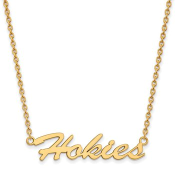 Gold-Plated Sterling Silver Virginia Tech NCAA Necklace