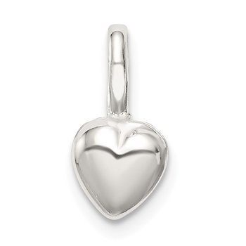 Sterling Silver Puffed Heart Charm