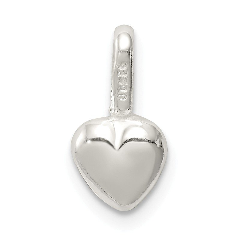 Quality Gold Sterling Silver Puffed Heart Charm