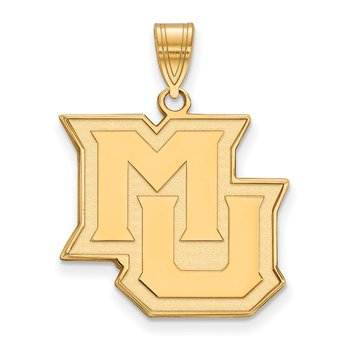 Gold Marquette University NCAA Pendant