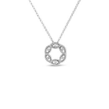 #19362 Of Small Diamond Circle Pendant