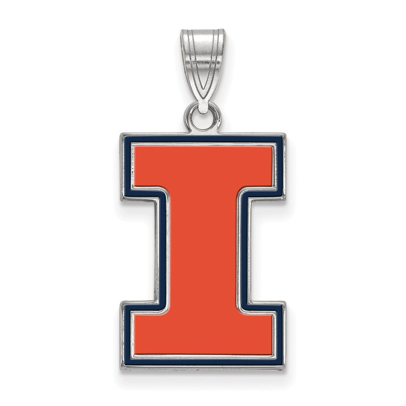 NCAA Sterling Silver University of Illinois NCAA Pendant