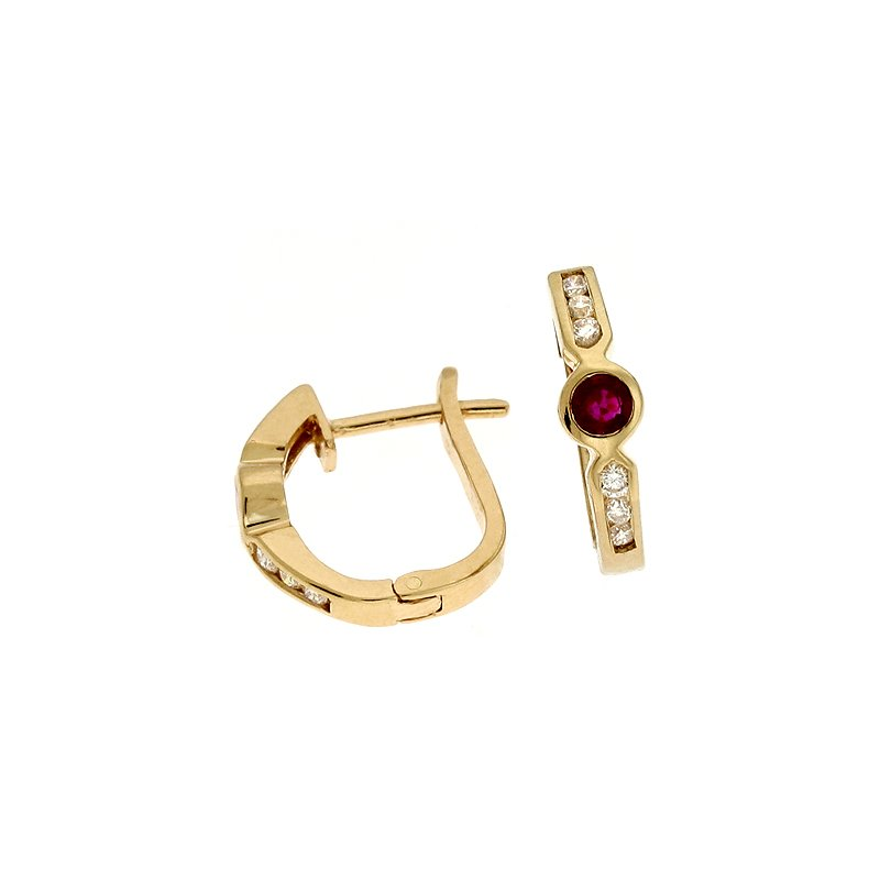 S. Kashi  & Sons Ruby./ Diamond Earring