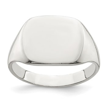 Sterling Silver 11x14mm Solid Back Signet Ring