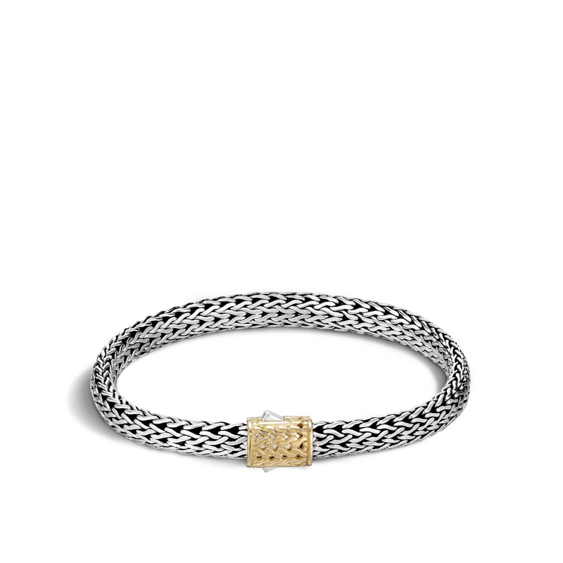 JOHN HARDY Classic Chain 6.5MM Bracelet in Silver and 18K Gold