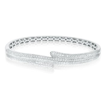 Pave White Diamond Bangle