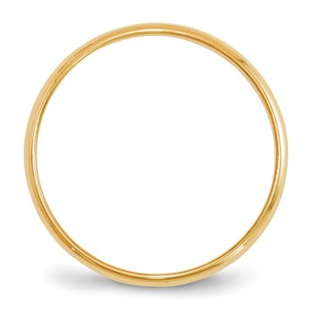 14KY 2mm LTW Half Round Band Size 10