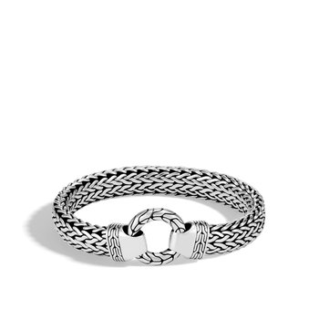 Classic Chain 11MM Ring Clasp Bracelet in Silver