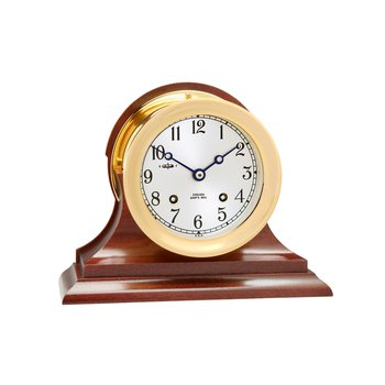 "4 1/2"" Ship's Bell Clock,  Traditional Base"