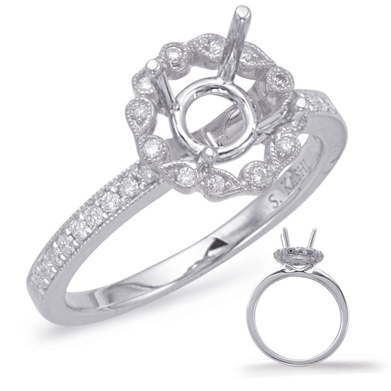 S. Kashi & Sons Bridal White Halo Engagement Ring