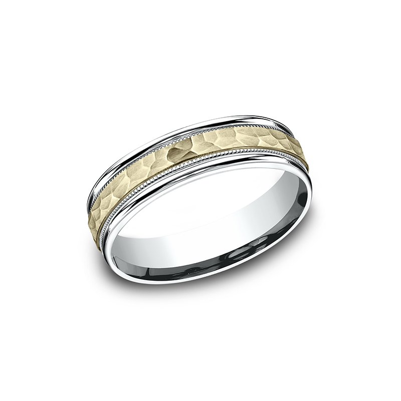 Benchmark Two Tone Comfort-Fit Design Wedding Band