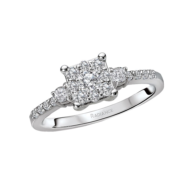 Radiance 3-Stone Diamond Ring