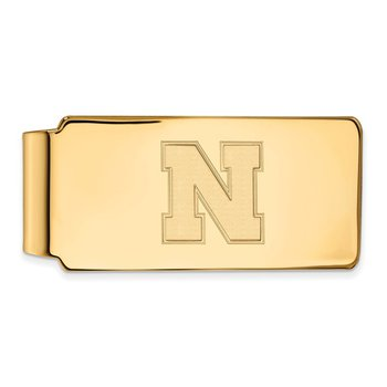 Gold University of Nebraska NCAA Money Clip