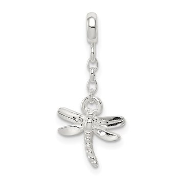 Sterling Silver Dragonfly 1/2in Dangle Enhancer